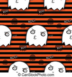 Halloween Ghost Seamless Pattern Background Vector