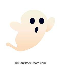 halloween ghost style flat icon