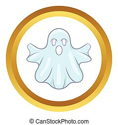 Halloween ghost vector icon