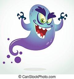Halloween ghost vector isolated