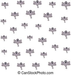 halloween ghosts floating characters pattern vector ...