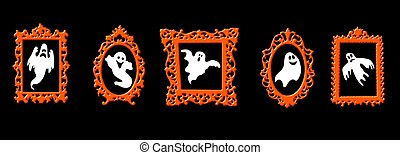 Halloween Ghosts in frames