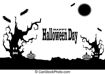halloween, giorno, fondo
