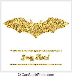 Halloween gold textured bat icon