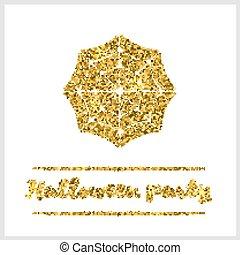 Halloween gold textured web icon