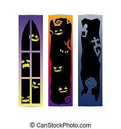 halloween gradient frame banner set