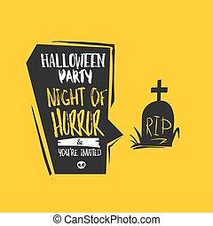 Halloween Grave bubble card