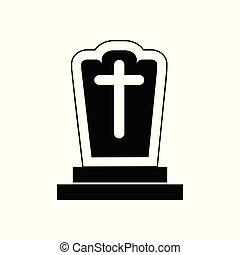 Halloween Gravestone Icon Vector Illustration