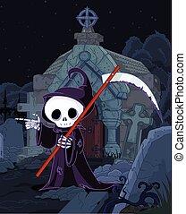 Halloween Grim Reaper - Illustration of Halloween grim...