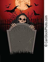 Halloween Grim Reaper - Halloween horrible Grim Reaper over...