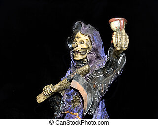 Halloween, grim reaper. - Halloween grim reaper close-up....