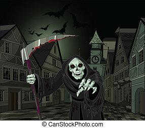 Halloween Grim Reaper - Halloween horrible Grim Reaper on...