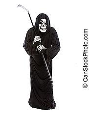 Halloween Grim Reaper with a Scythe