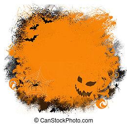 halloween, grunge, bakgrund