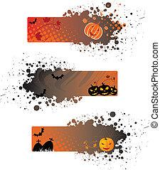Halloween grunge banners