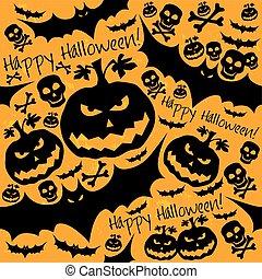 Halloween grunge vector pattern