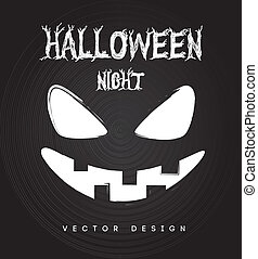 halloween - halloween icons over black background vector...