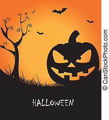 halloween - halloween icons over purple background vector...