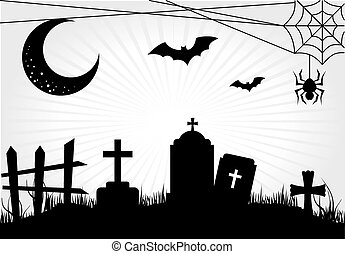 halloween - halloween icons over white background vector...
