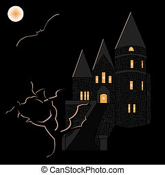 Halloween haunted castle