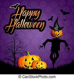 halloween, heureux