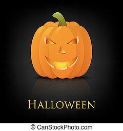 halloween, heureux, pumkin., vecteur, arrière-plan.