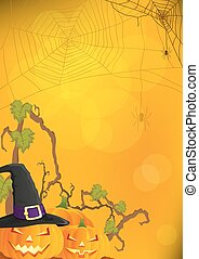 halloween, hintergrund, vektor