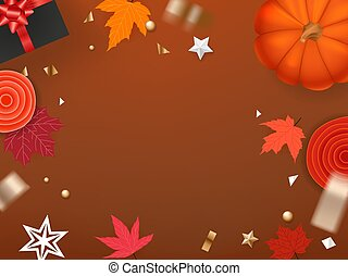 Halloween holiday greeting card template. Copy space for a text