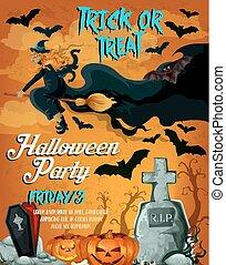 Halloween horror night party poster design