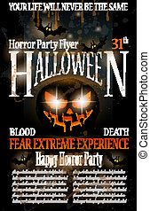 Halloween Horror Party Flyer