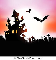 halloween house background 1609