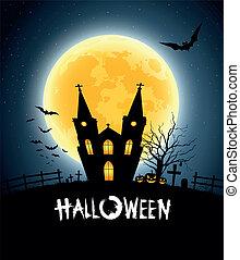 Halloween house party full moon