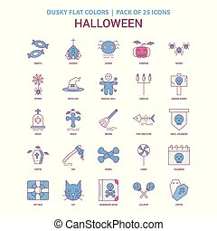 Halloween icon Dusky Flat color - Vintage 25 Icon Pack
