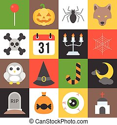 halloween icon set 2