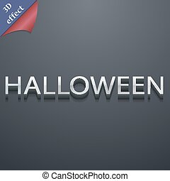 Halloween icon symbol. 3D style. Trendy, modern design with space for your text Vector