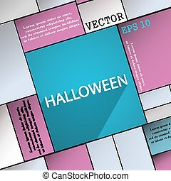 Halloween icon symbol Flat modern web design with long shadow and space for your text. Vector