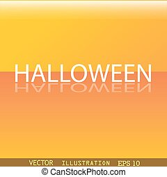 Halloween icon symbol Flat modern web design with reflection and space for your text. Vector
