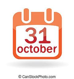 Halloween icon with calendar