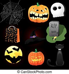 Halloween Icons A collection of nine fun Halloween icons....