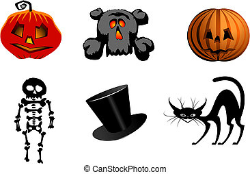 Halloween icons - Isolated halloween icons and symbols for ...