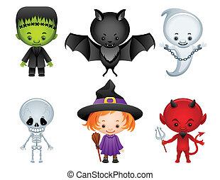halloween, ikony