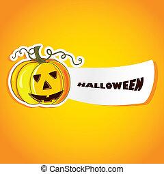 halloween, illustratie, vector