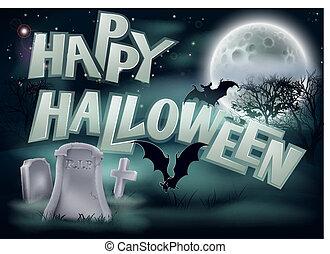 halloween, illustration, heureux