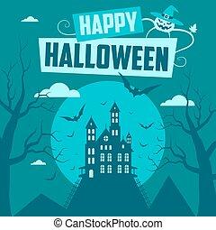 halloween, illustration, lycklig