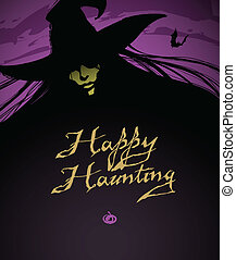 Halloween Illustration of a Witch