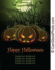halloween, illustration, pum