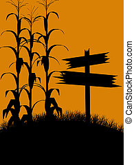 Halloween Illustration silhouette - A black halloween...
