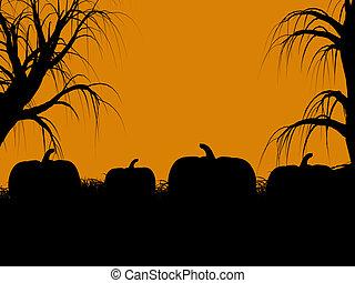 Halloween Illustration silhouette - A black halloween...