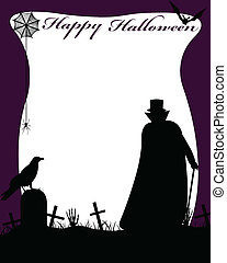 Halloween illustration with dracula