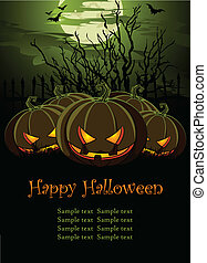 Halloween Illustration with Pum